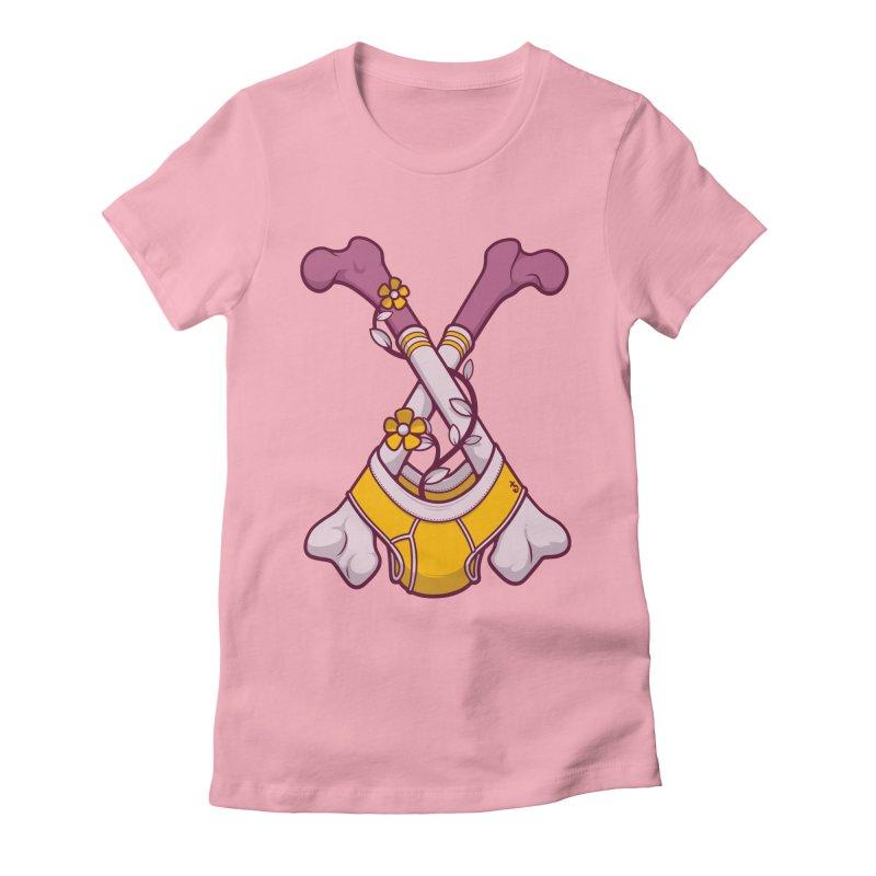 Cross Bones Women's Fitted T-Shirt by Zhion T-Shop