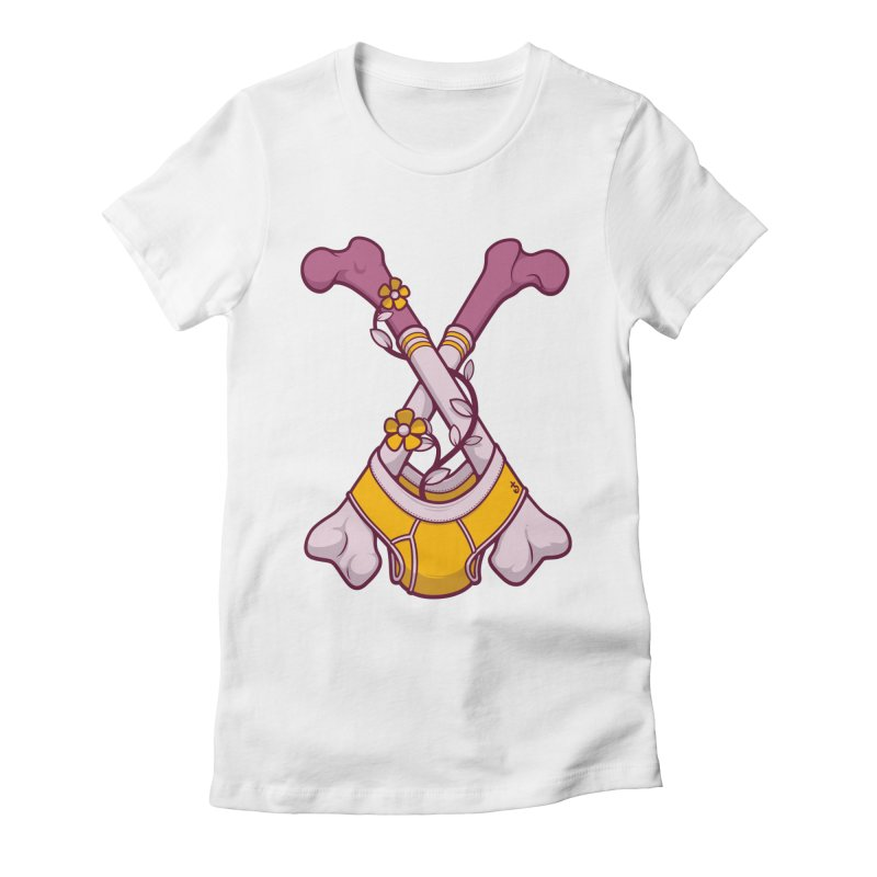 Cross Bones Women's Fitted T-Shirt by Zhion T-Shop