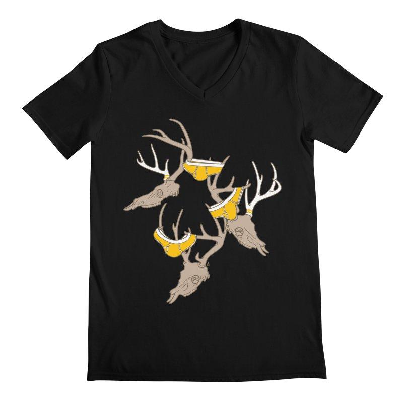 Horns Men's V-Neck by Zhion T-Shop