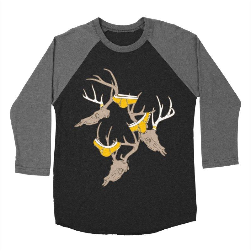 Horns Women's Baseball Triblend T-Shirt by Zhion T-Shop