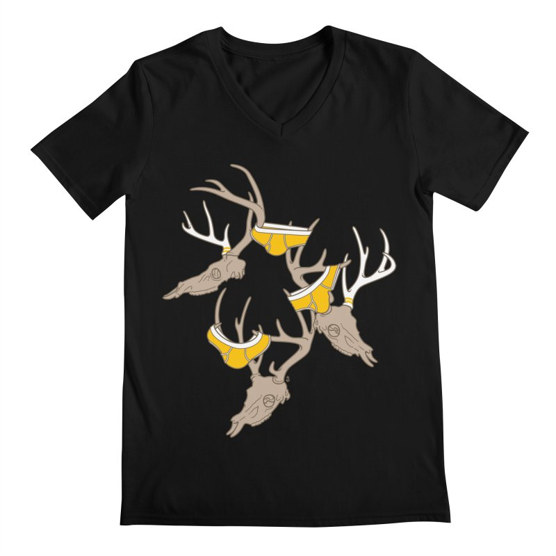 Horns Men's V-Neck by Zhion T-Shop