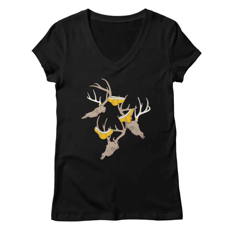 Horns Women's V-Neck by Zhion T-Shop