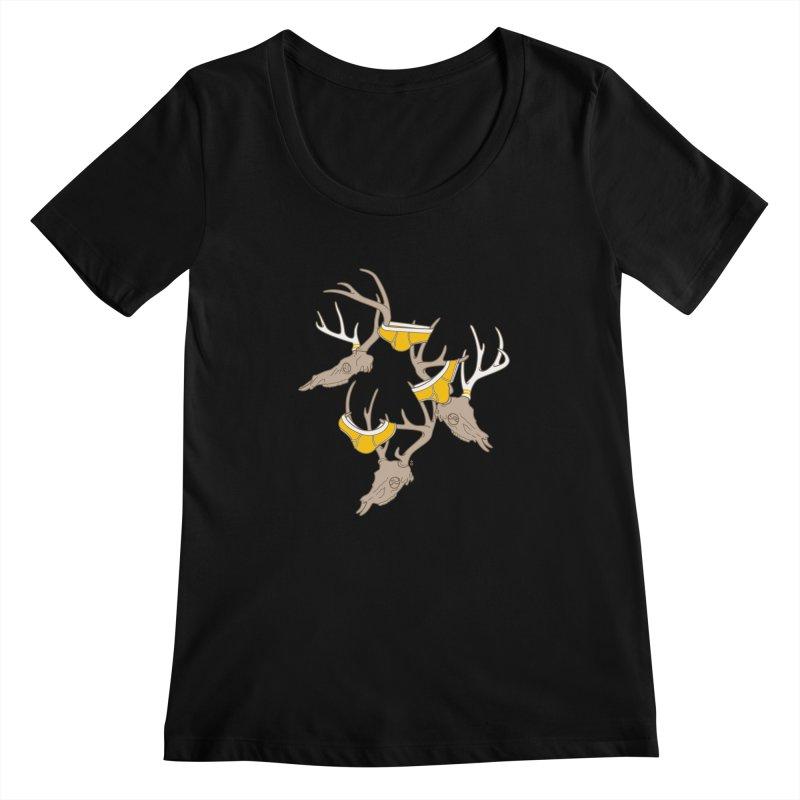 Horns Women's Scoopneck by Zhion T-Shop