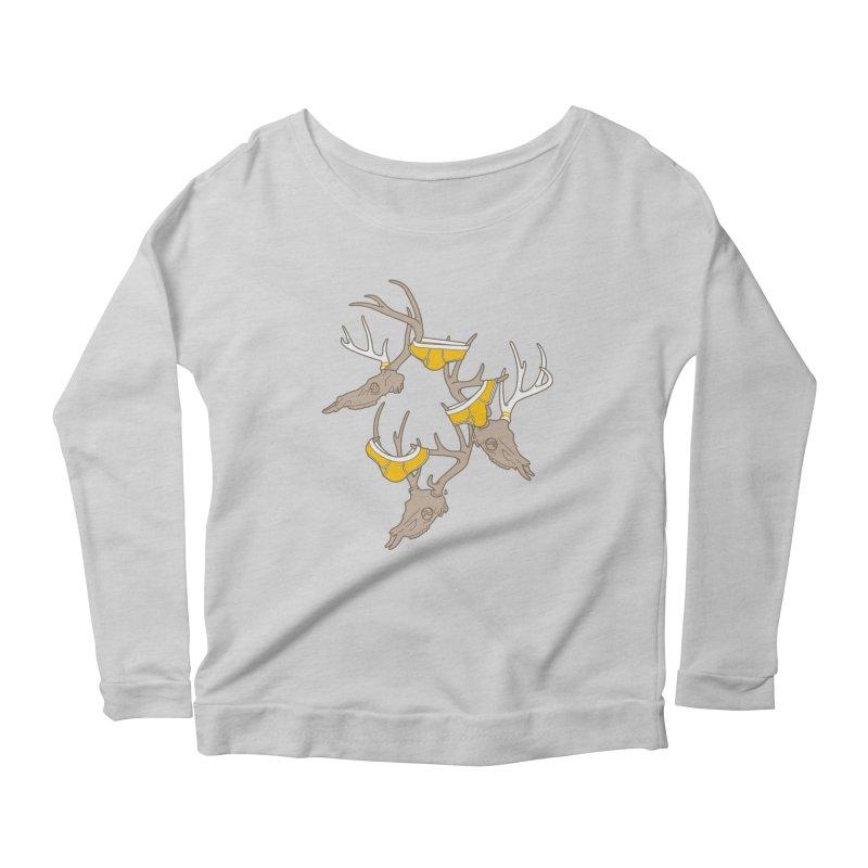 Horns Women's Scoop Neck Longsleeve T-Shirt by Zhion T-Shop