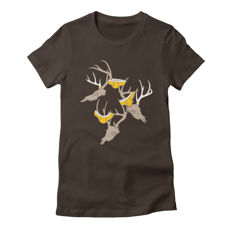 Horns Women's Fitted T-Shirt by Zhion T-Shop