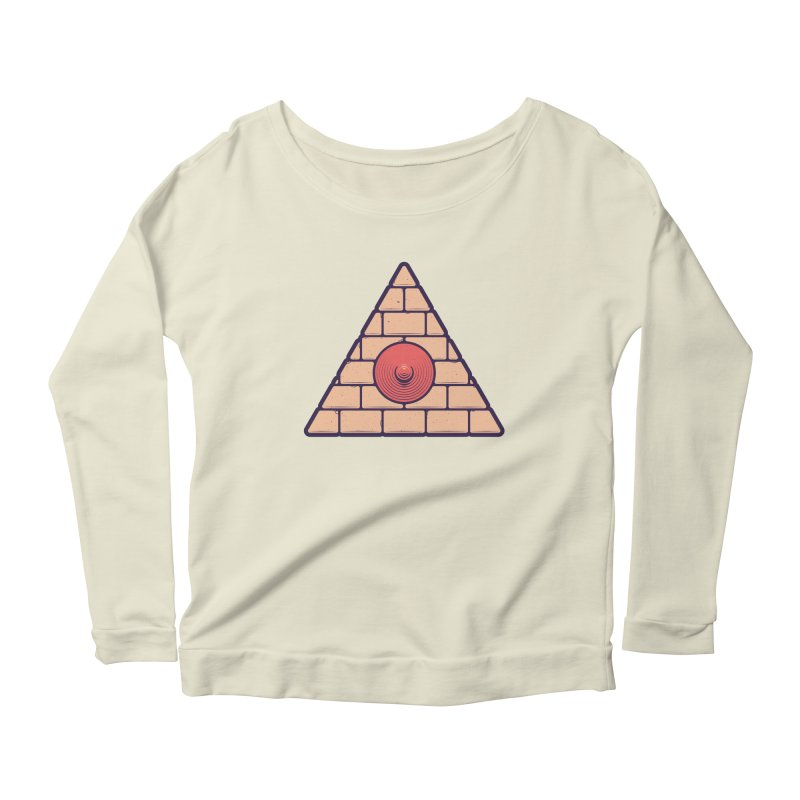 Illuminipple - Pink Women's Longsleeve Scoopneck  by Zhion T-Shop