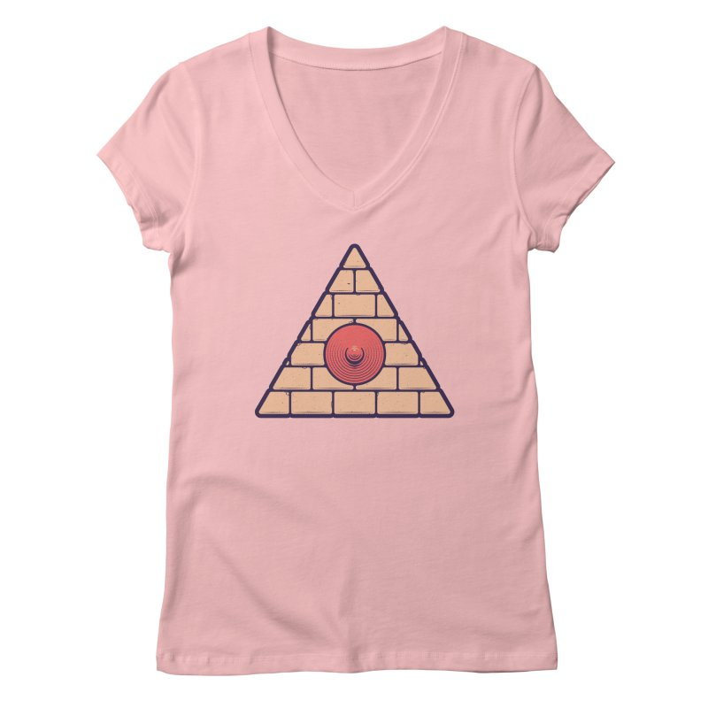 Illuminipple - Pink Women's V-Neck by Zhion T-Shop