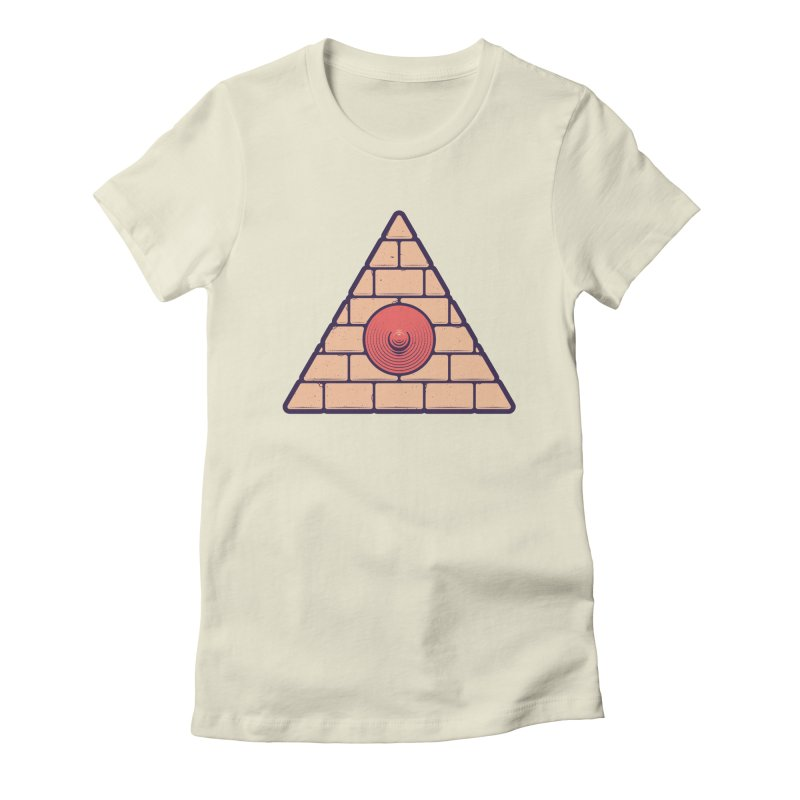Illuminipple - Pink Women's Fitted T-Shirt by Zhion T-Shop