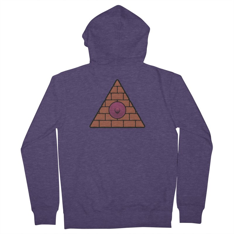 Illuminipple - Purple Men's Zip-Up Hoody by Zhion T-Shop