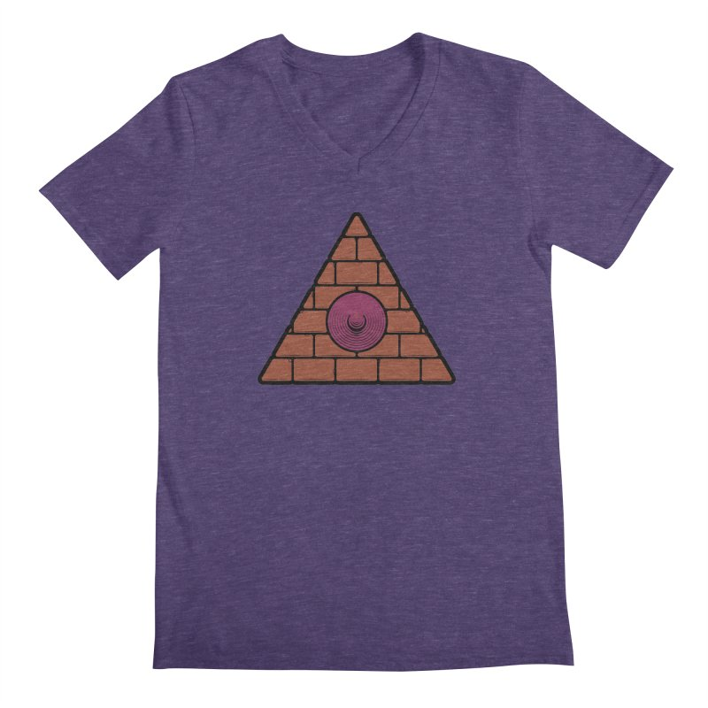 Illuminipple - Purple Men's Regular V-Neck by Zhion T-Shop