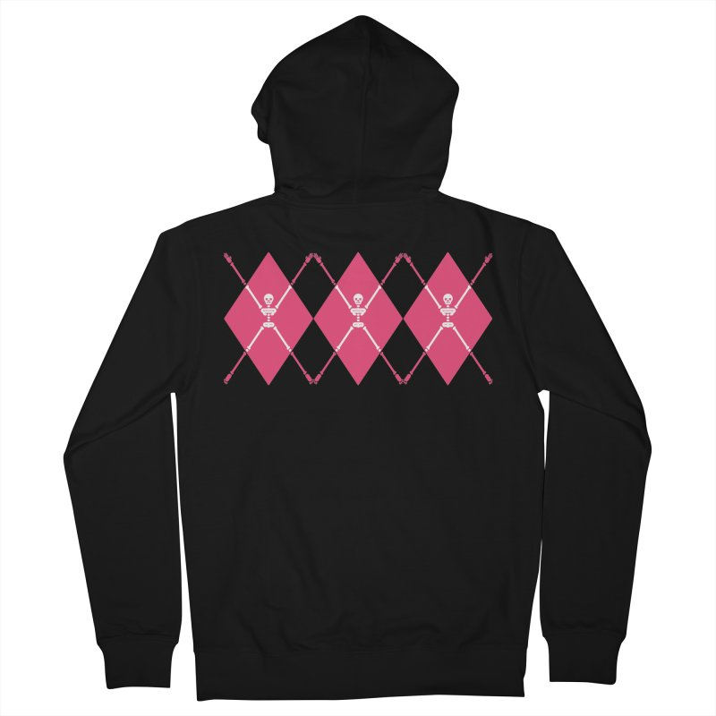 XXX-Ray - Pink Men's French Terry Zip-Up Hoody by Zhion T-Shop