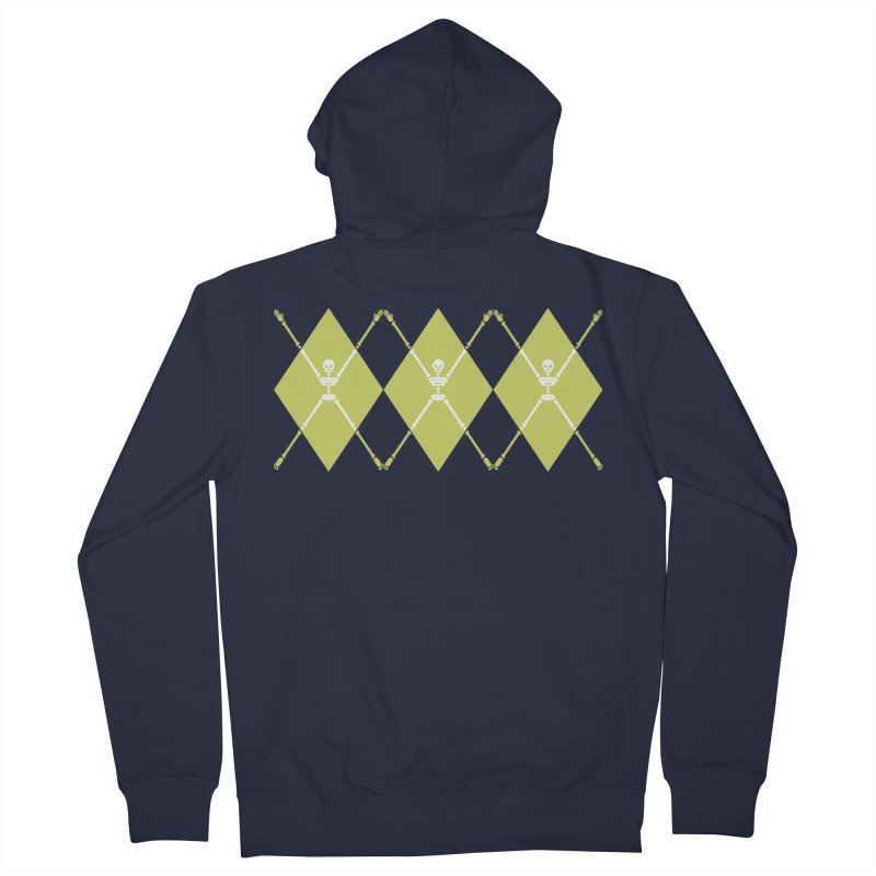XXX-Ray - Lime Men's French Terry Zip-Up Hoody by Zhion T-Shop