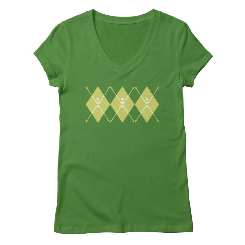 XXX-Ray - Lime Women's Regular V-Neck by Zhion T-Shop