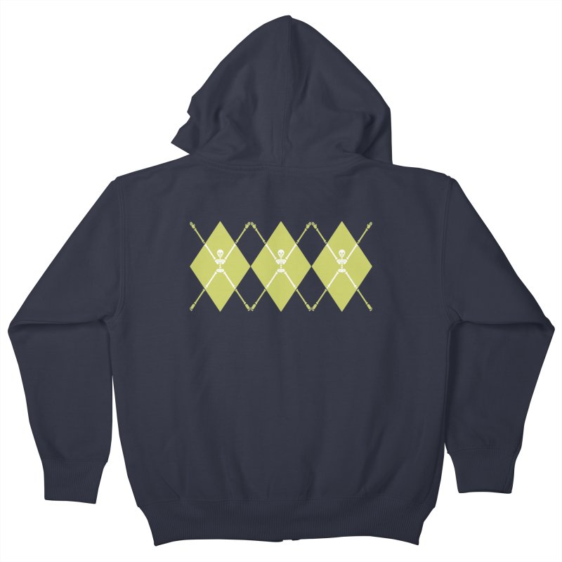 XXX-Ray - Lime Kids Zip-Up Hoody by Zhion T-Shop