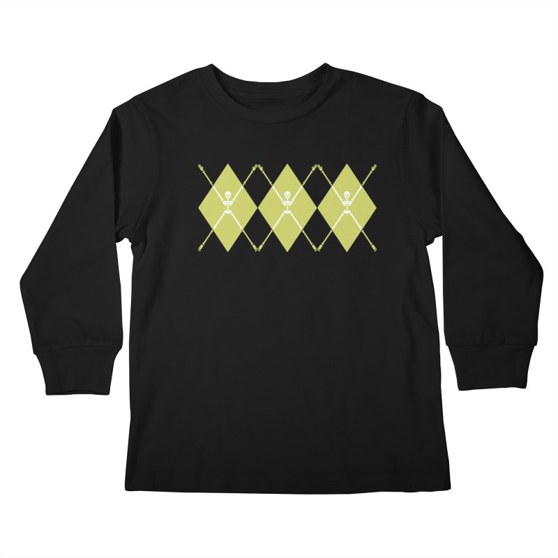 XXX-Ray - Lime Kids Longsleeve T-Shirt by Zhion T-Shop