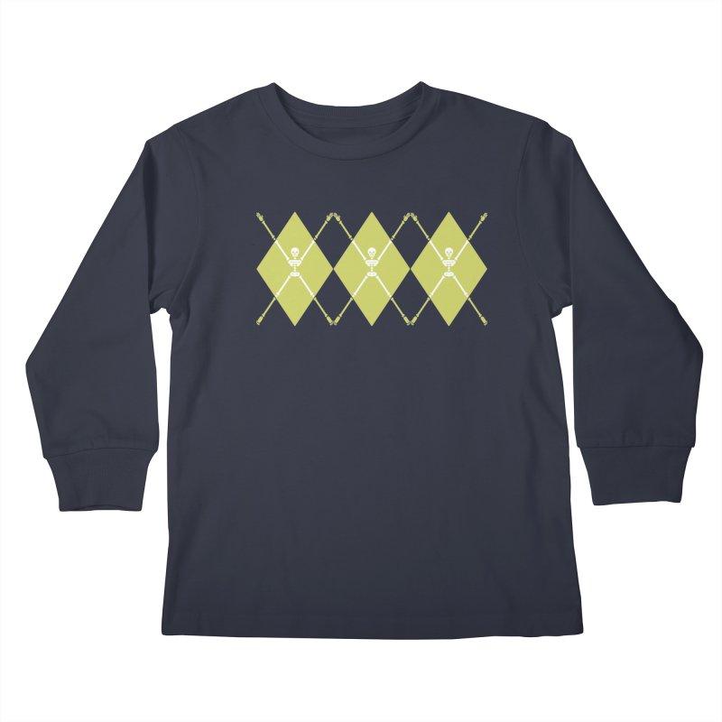 XXX-Ray - Lime Kids Longsleeve T-Shirt by Zhion T-Shop