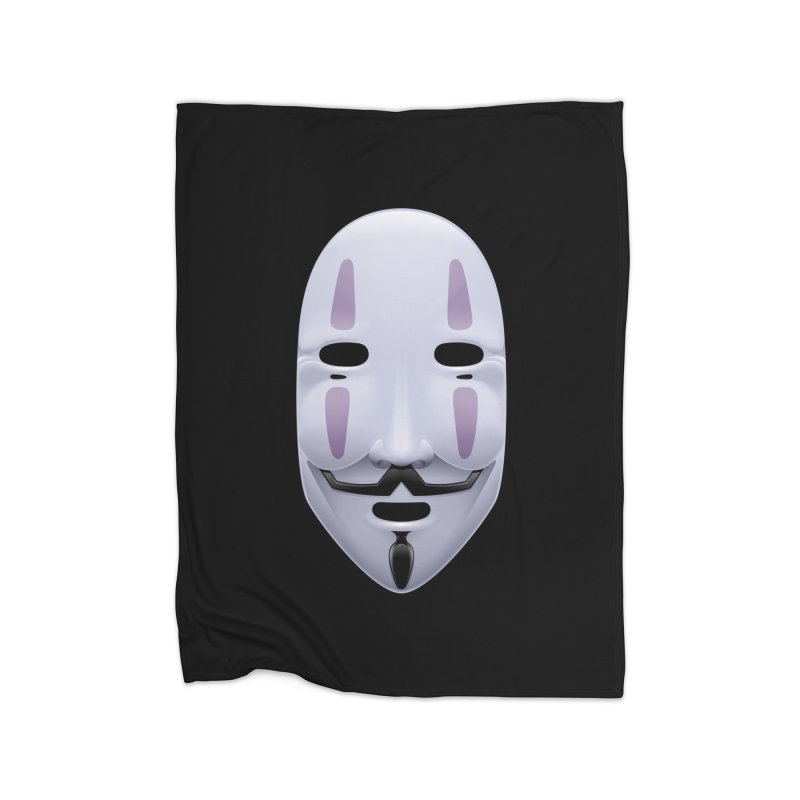 Absolutely Anonymous Home Fleece Blanket Blanket by Zhion T-Shop
