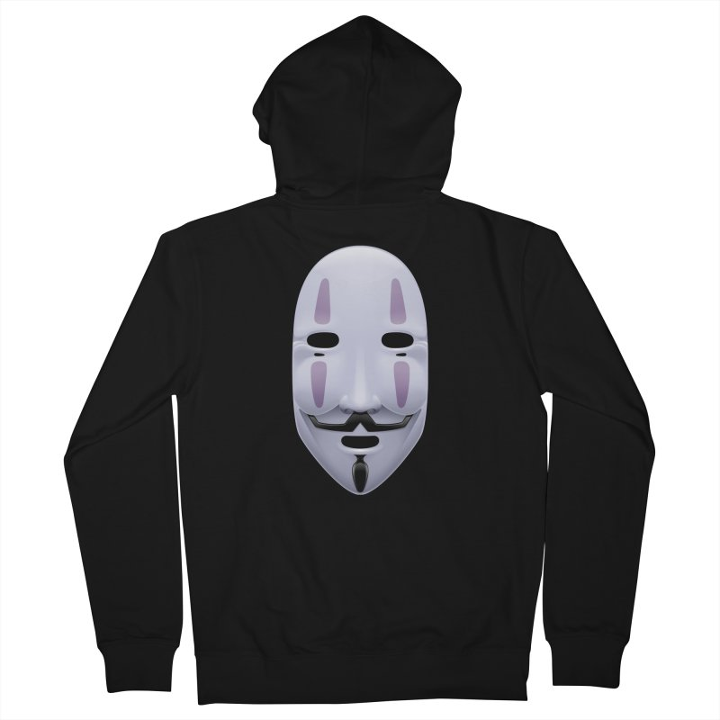 Absolutely Anonymous Men's French Terry Zip-Up Hoody by Zhion T-Shop