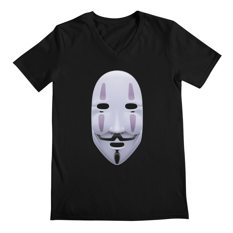Absolutely Anonymous Men's V-Neck by Zhion T-Shop