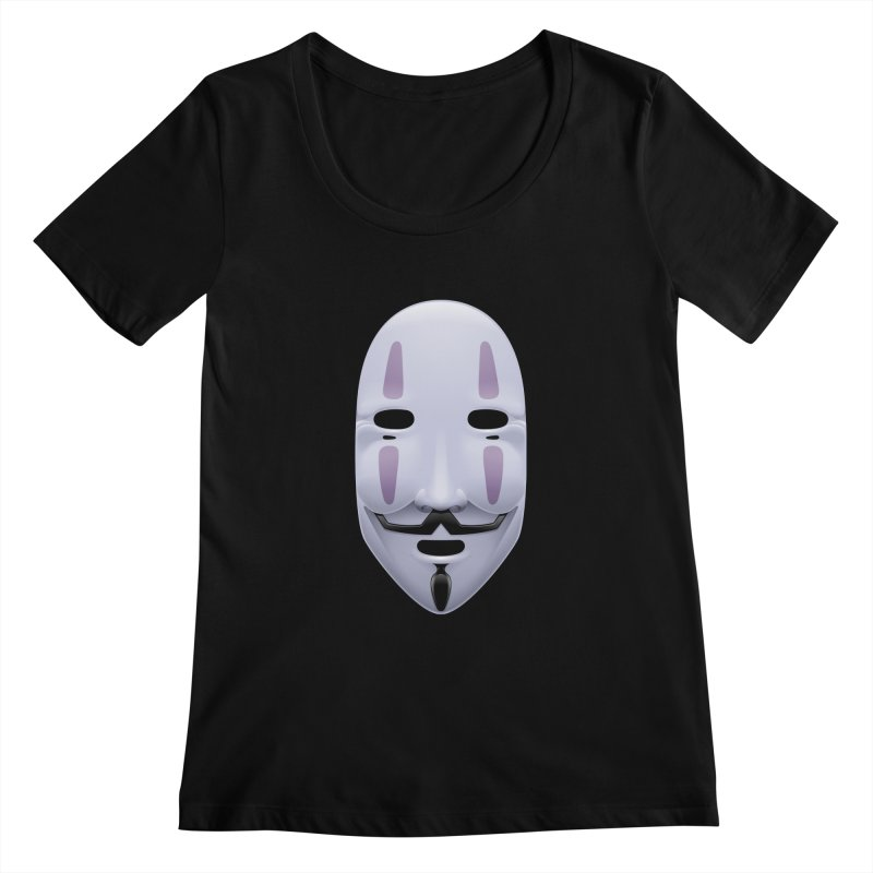 Absolutely Anonymous Women's Scoopneck by Zhion T-Shop