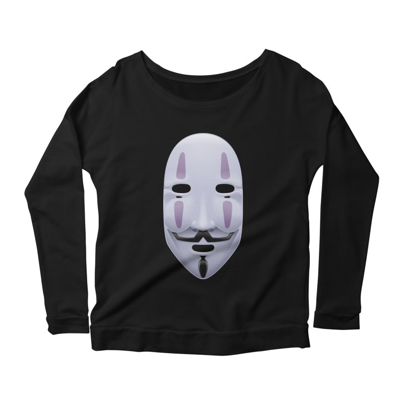 Absolutely Anonymous Women's Longsleeve Scoopneck  by Zhion T-Shop