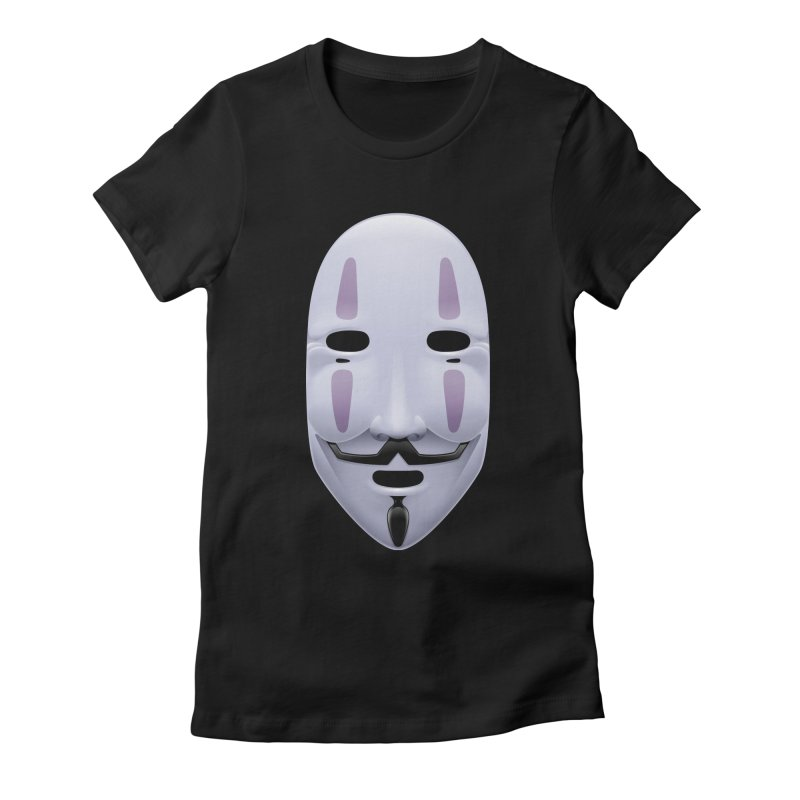 Absolutely Anonymous Women's Fitted T-Shirt by Zhion T-Shop