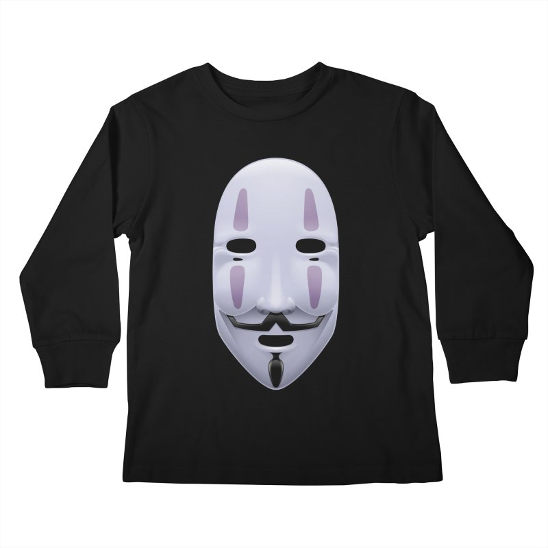 Absolutely Anonymous Kids Longsleeve T-Shirt by Zhion T-Shop