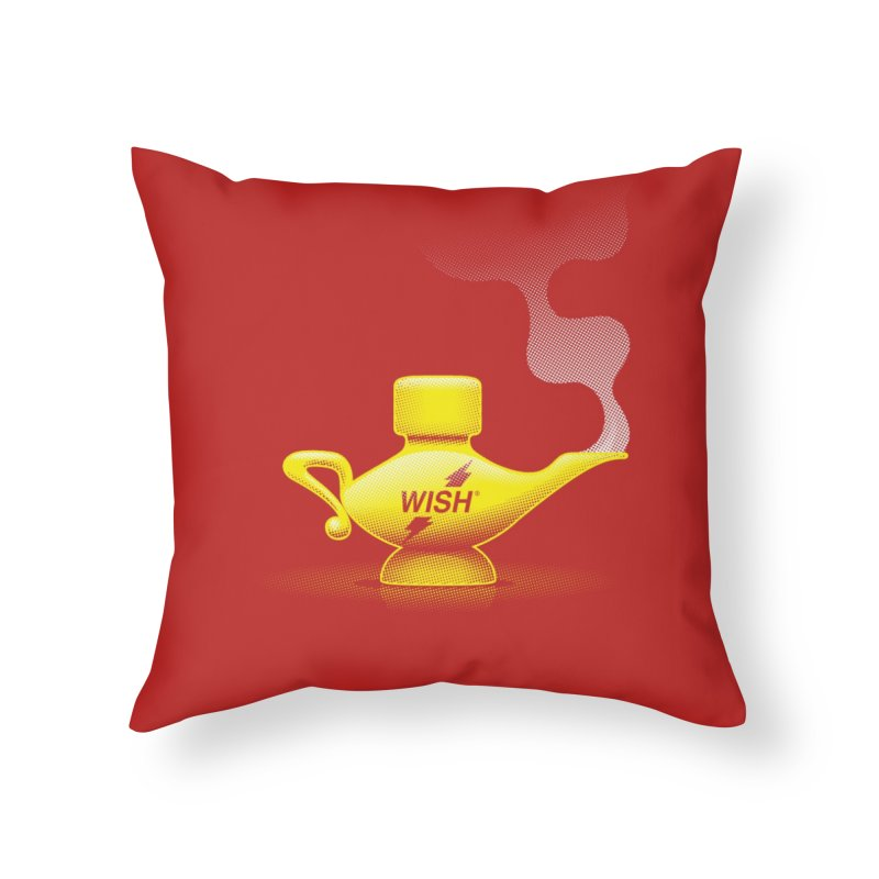 Wish Home Throw Pillow by Zhion T-Shop