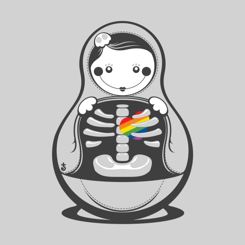 Rainbow Inside Kids T-Shirt by Zhion T-Shop