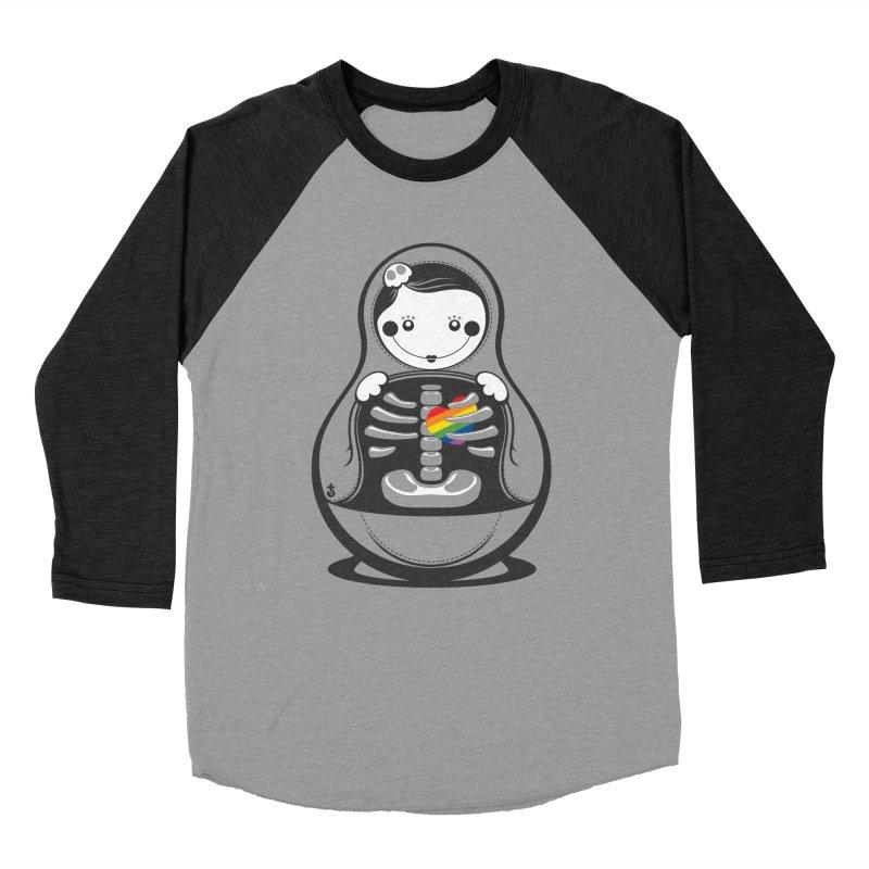 Rainbow Inside Women's Baseball Triblend Longsleeve T-Shirt by Zhion T-Shop