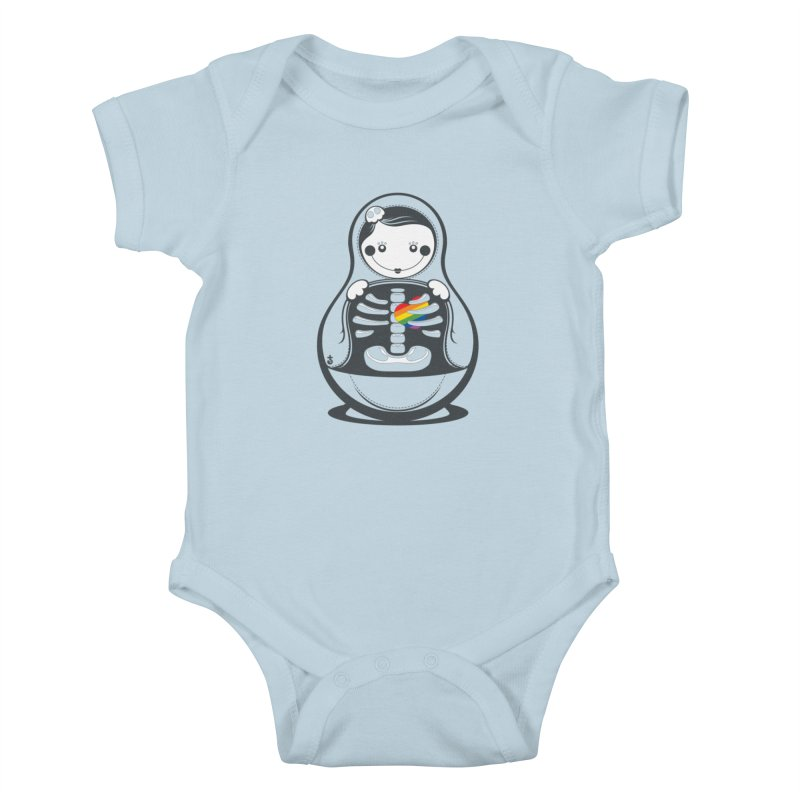 Rainbow Inside Kids Baby Bodysuit by Zhion T-Shop