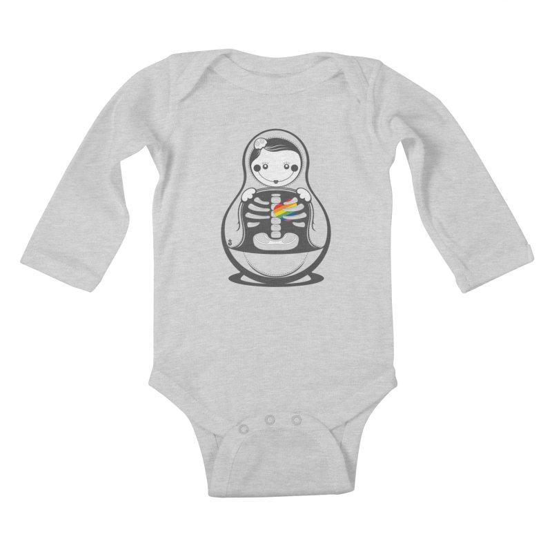 Rainbow Inside Kids Baby Longsleeve Bodysuit by Zhion T-Shop