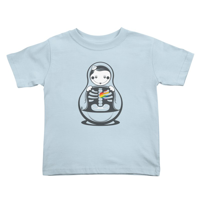 Rainbow Inside Kids Toddler T-Shirt by Zhion T-Shop