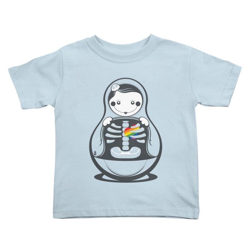 Rainbow Inside Kids Toddler T-Shirt by Zhion T-Shop