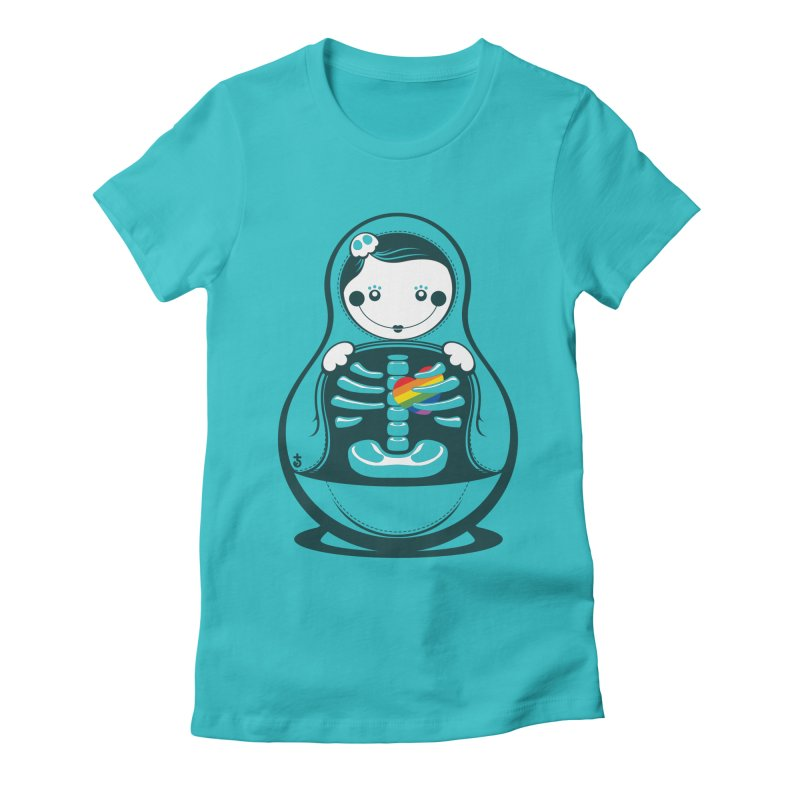 Rainbow Inside Women's Fitted T-Shirt by Zhion T-Shop