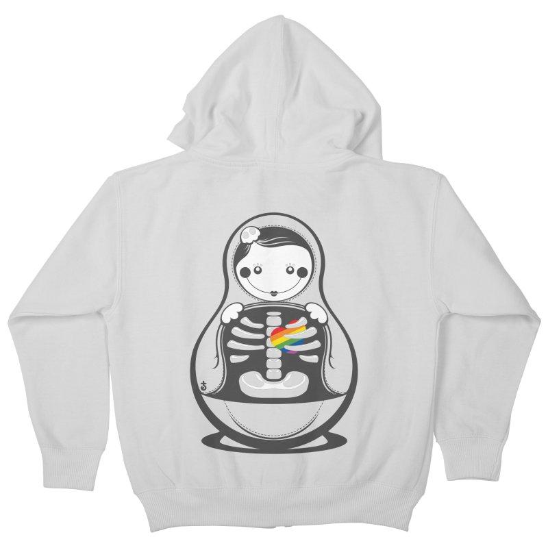 Rainbow Inside Kids Zip-Up Hoody by Zhion T-Shop