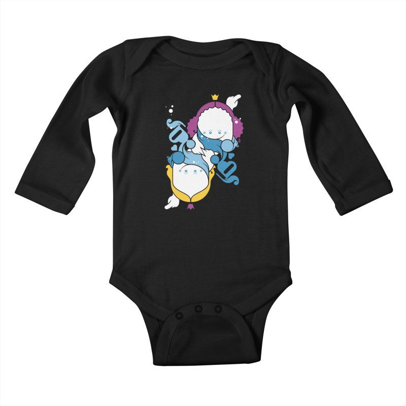 Dancing Queens Kids Baby Longsleeve Bodysuit by Zhion T-Shop
