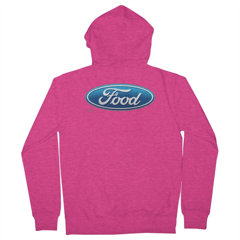 Food Women's French Terry Zip-Up Hoody by Zachary Knight | Artist Shop