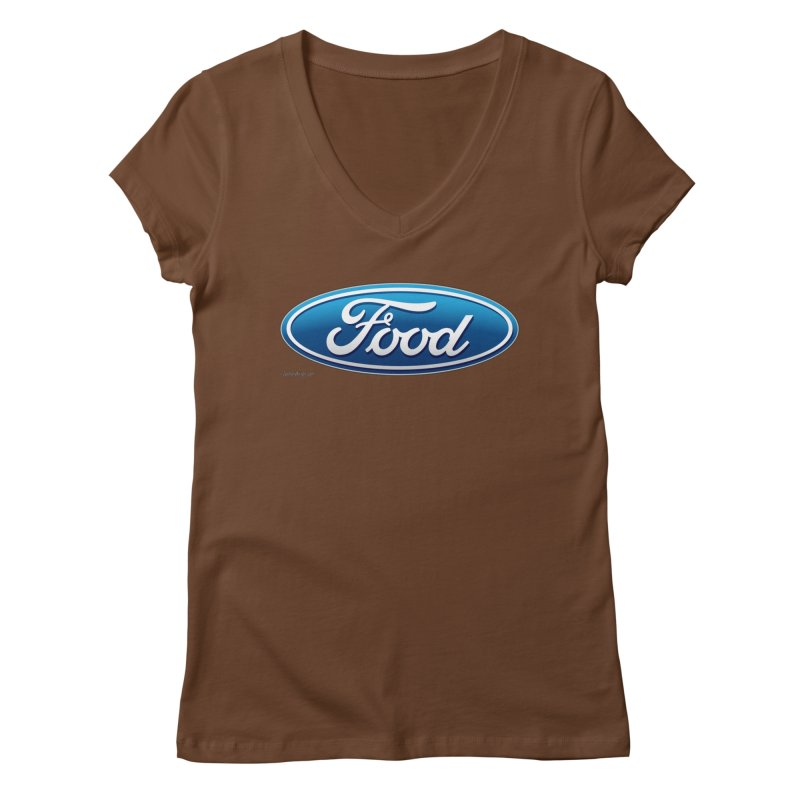 Food Women's V-Neck by Zachary Knight | Artist Shop