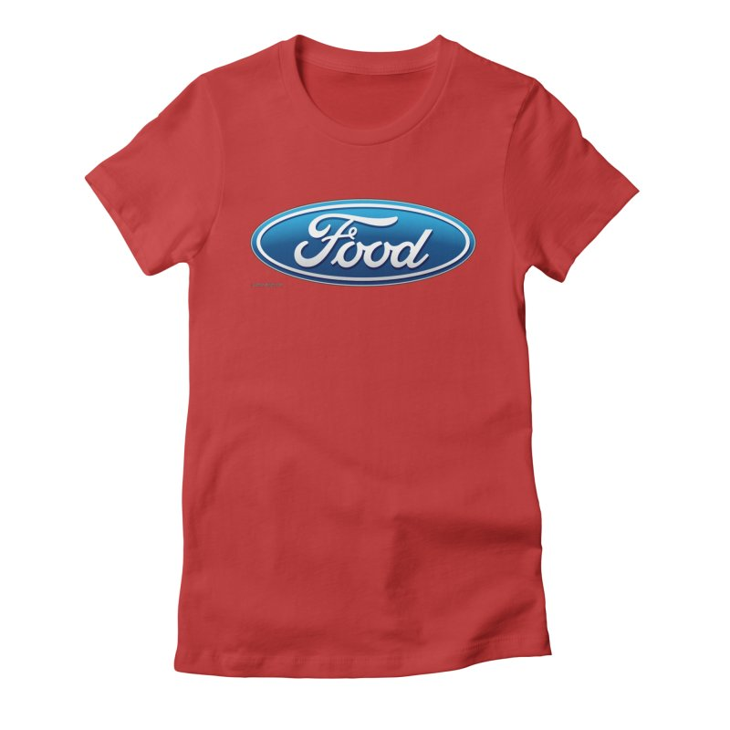 Food Women's Fitted T-Shirt by Zachary Knight | Artist Shop