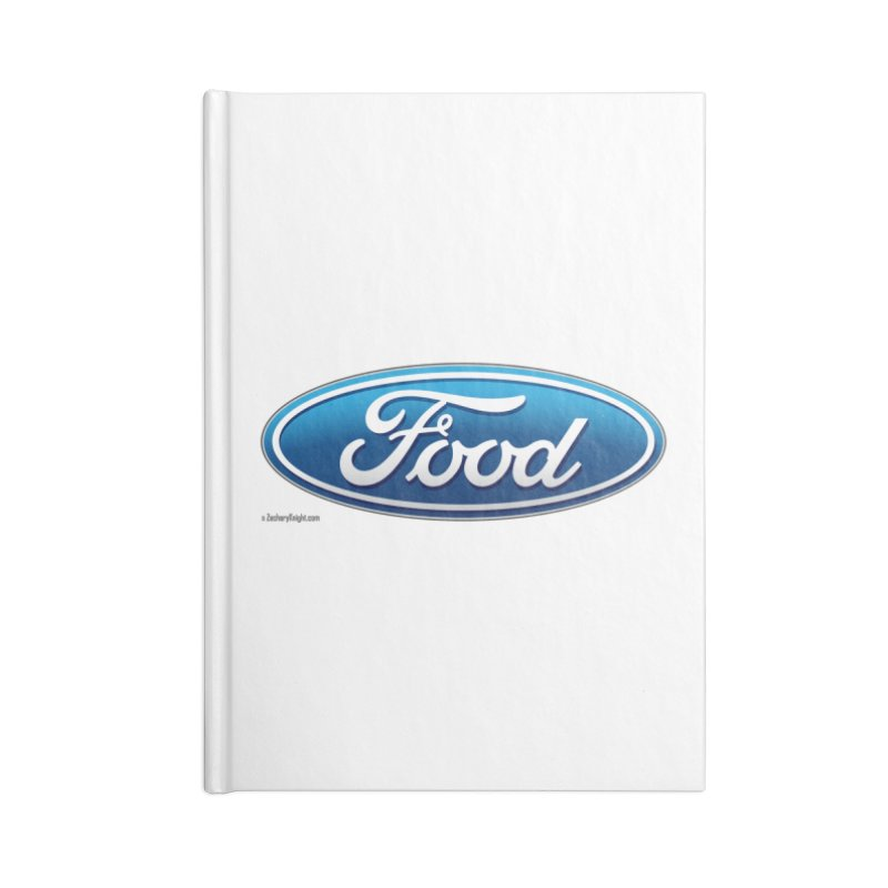 Food Accessories Lined Journal Notebook by Zachary Knight | Artist Shop