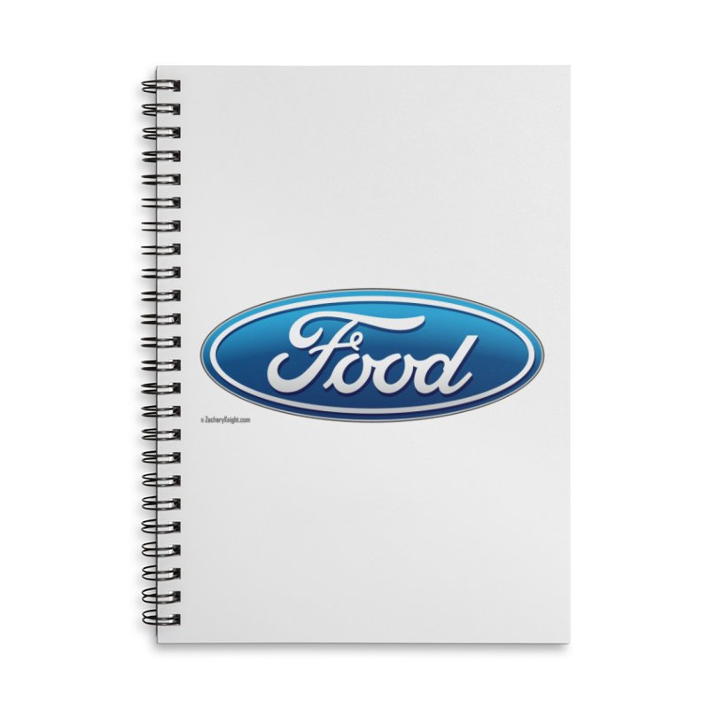 Food Accessories Lined Spiral Notebook by Zachary Knight | Artist Shop