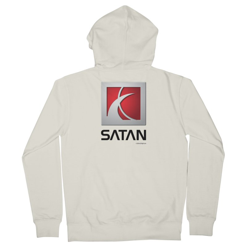 SATAN Men's French Terry Zip-Up Hoody by Zachary Knight | Artist Shop