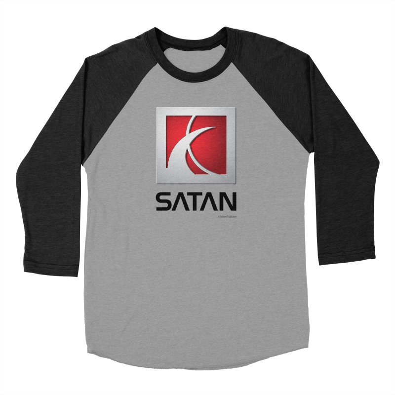 SATAN Women's Baseball Triblend Longsleeve T-Shirt by Zachary Knight | Artist Shop