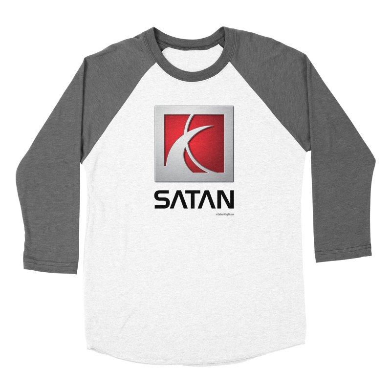 SATAN Men's Baseball Triblend Longsleeve T-Shirt by Zachary Knight | Artist Shop