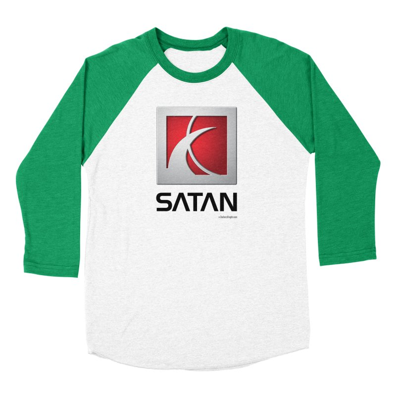 SATAN Men's Baseball Triblend Longsleeve T-Shirt by Zachary Knight | Artist Shop