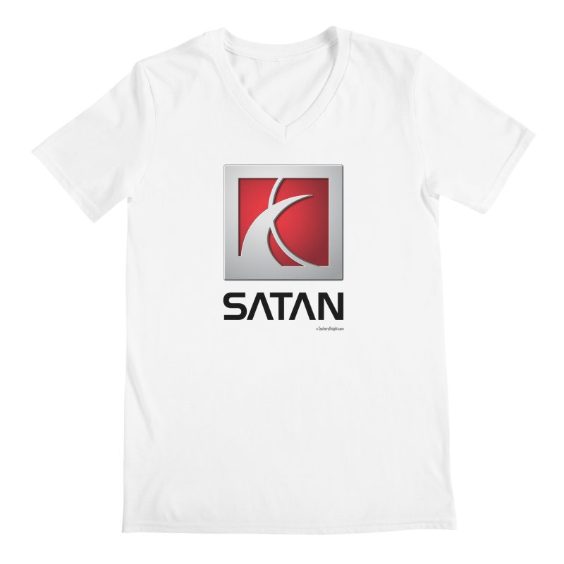 SATAN Men's Regular V-Neck by Zachary Knight | Artist Shop