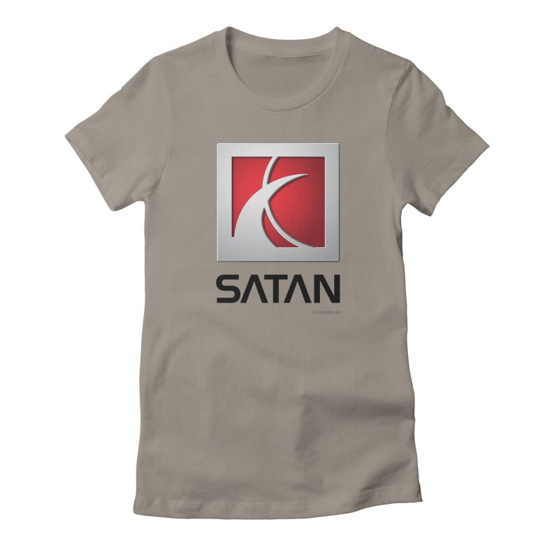 SATAN Women's Fitted T-Shirt by Zachary Knight | Artist Shop