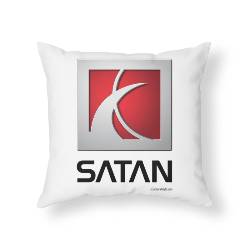 SATAN Home Throw Pillow by Zachary Knight | Artist Shop