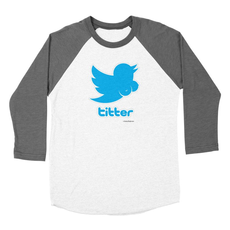 Titter Women's Baseball Triblend Longsleeve T-Shirt by Zachary Knight | Artist Shop